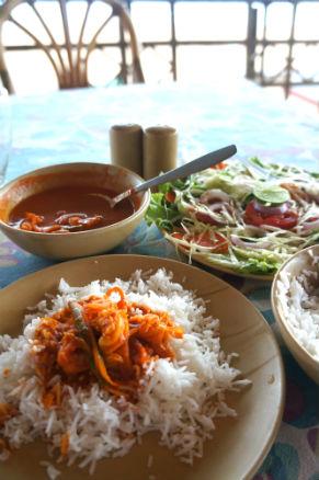 prawn curry rice